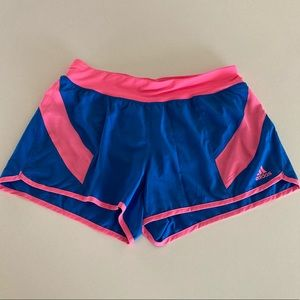Adidas shorts size small pink blue active workout